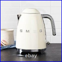 NEW Smeg Ivory Cream Color Electric Kettle