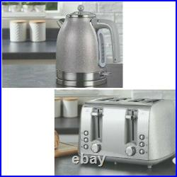 NEW Sparkle Silver 4 Slice Toaster, Kettle and Microwave (Multi) Set