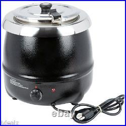 New Avantco S30 11 Qt. Black Countertop Soup Kettle Warmer 120V, 400W + Rebate