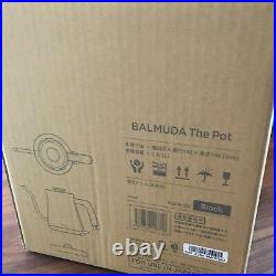 New BALMUDA Black Electric Kettle The Pot K02A-BK Shipping from JAPAN