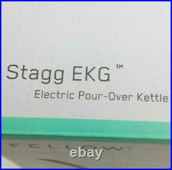 New Fellow 1137 Stagg EKG 0.9L Electric Pour Over Kettle Matte Black 1200W 120V