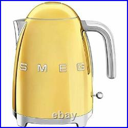 New Open Box UNTESTED Smeg 50's Retro Style Aesthetic Electric Kettle Gold