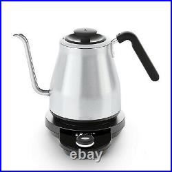 OXO Adjustable Temperature Stainless Steel Pour Over Coffee Tea Kettle, Silver