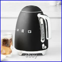 SMEG KLF01 50s Retro Style Electric Tea Kettle Black