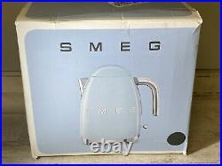 SMEG KLF03GRUS Cordless Slate Grey Kettle 3D Logo Retro 50s Style New