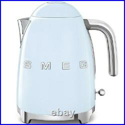 SMEG KLF03PBUK Cordless Pastel Blue Kettle 3D Logo Retro + 2 Year Warranty
