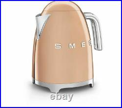 SMEG KLF03RGUK 3Kw Special Edition Rose Gold Jug Kettle + 2 Year Warranty (New)