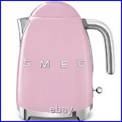 SMEG Retro Pink Kettle & 4 Slot 4 Slice Toaster KLF03PKUK & TSF03PKUK (New)