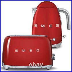 SMEG Retro Red Kettle & 2 Slice Toaster KLF03RDUK & TSF01RDUK (Brand New)