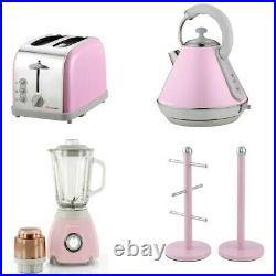 SQ Pro. Toaster, Kettle, 2 x 1 Blender & Mug Tree Set or single piece (Pink)