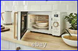 SWAN Cordless Kettle 2 Slice Toaster & Digital Microwave Set White/Wood UK Item