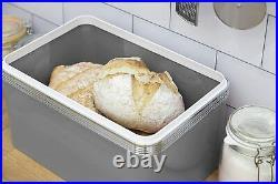 SWAN Retro 2 Slice Toaster Kettle Storage Canisters & Bread Bin Kitchen Set GREY
