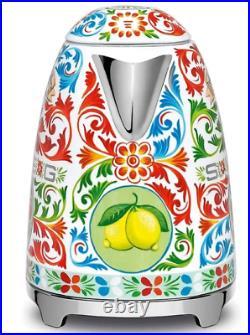 Smeg KLF03DGUS Dolce & Gabbana Electric Kettle 1.7-Lt, Sicily is my love