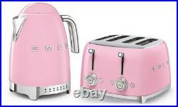 Smeg KLF04 Variable Temp Kettle & Smeg TSF03 4 Slice Toaster, Choice Of Colour