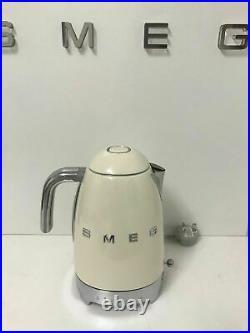 Smeg KLF04CRUK 50's Retro Cream Variable Temperature Kettle, Unused, Box Damaged