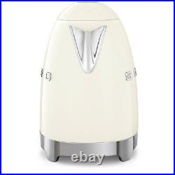 Smeg KLF04CRUK Cream Retro 50's Style Kettle With Variable Temperature 1.7L NEW