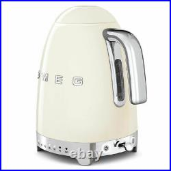Smeg KLF04CRUK Cream VariableTemp Kettle & Smeg TSF03CRUK Cream 4 Slice Toaster