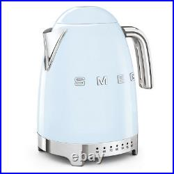 Smeg KLF04PBUK Pastel Blue Retro 50's Style Kettle Variable Temperature & 1.7L