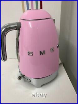 Smeg KLF04PKUK 50's Retro Pink Variable Temperature Kettle, Unused, Box Damaged
