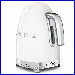 Smeg KLF04WHUK Variable Temperature 50's Retro White Kettle, Brand new