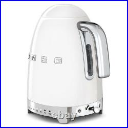 Smeg KLF04WHUK White Retro 50's Style Kettle With Variable Temperature 1.7L NEW
