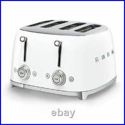 Smeg KLF04WHUK White VariableTemp Kettle & Smeg TSF03WHUK White 4 Slice Toaster