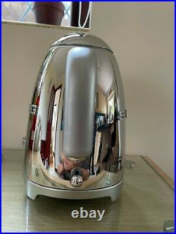 Smeg Klf03ssuk 1.7l Retro Kettle Polished Stainless Steel, Ex-display/demo