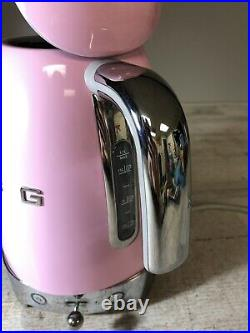 Smeg Retro Style Electric Kettle 1500W 7 Cups KLF03PKUS Pink Used