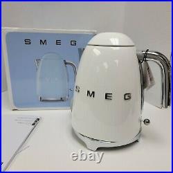 Smeg Retro Style Electric Kettle Klf03whus White 7 Cup