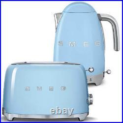 Smeg TSF01PBUK Pastel Blue 2 Slice Toaster & Smeg KLF04PBUK Variable Temp Kettle