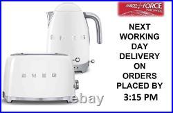 Smeg TSF01WHUK White 2 Slice Toaster & Smeg KLF04WHUK Variable Temp Kettle