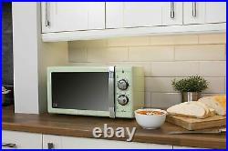 Swan Green Retro Digital Microwave Jug Kettle Toaster & Slow Cooker Kitchen Set
