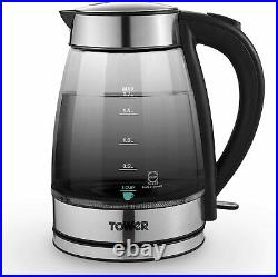Tower Ombre Kettle & Toaster Matching Microwave Kitchen Set Graphite/Black UK