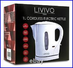 Travel Kettle Portable Electric 1L Camping Caravan Kitchen Hotel Jug Holiday New