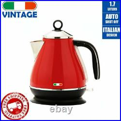 Vintage Electric Kettle Toaster & Induction Grill Hotpot BBQ Deep Fry Combo Red