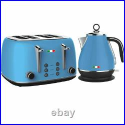 Vintage Electric Kettle and Toaster SET Combo Deal Stainless Steel