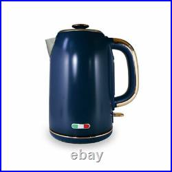 Vintage Electric Kettle and Toaster SET Combo Deal Stainless Steel Copper Blue