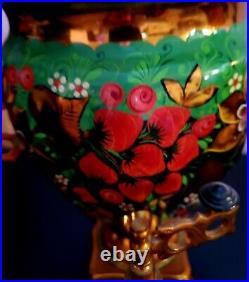 Vintage Tula Russian Hand Painted Khokhloma Samovar Electric Tea Kettle